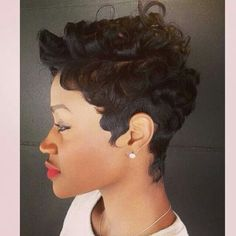 Finger Waves And Curls Cute Short Natural Hairstyles Quick Weave Black