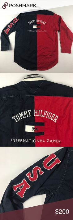 Vintage Small Tommy Hilfiger USA Spell Out Shirt Excellent condition Tommy Hilfiger Shirts Casual Button Down Shirts