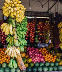 """Vibrant tropical fruit stalls of Sri Lanka ∽⋆✧ @gypsea_lust"""