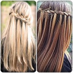 Waterfall braid. Simple but look good ^ ^  www.stylehaircare.com