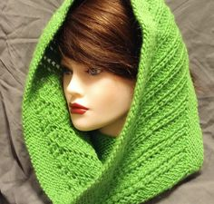 Bright Green Wool Blend Cowl - Neck Warmer - Infinity Scarf by BeachBumKnits on Etsy