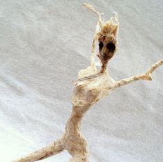 harpy - ooak paper mache sculpture. $135.00, via Etsy.