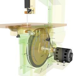 Homemade bandsaw (continued)