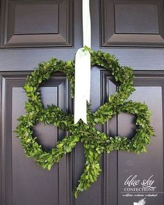 @curiouscountry posted to Instagram: Make your door festive for St. Patrick's Day by making a Shamrock Wreath out of Preserved Boxwood. Make a wire wreath form and wire tie preserved boxwood stems to it. Add a ribbon hanger and welcome your guests with some Luck o' the Irish! ⁣ #wreaths #wreath #springdecor #irish #shamrock #diycrafts #diyhomedecor #stpaddysday #stpatricksday #diywreath #homedecorating #luckoftheirish #homedetails #stpatricks #homedecoration #frontdoor #frontdoordecor #holida