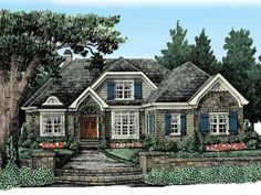 Cottage House Plan with 2240 Square Feet and 4 Bedrooms from Dream Home Source | House Plan Code DHSW50659
