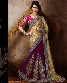 https://www.a1designerwear.com/well-formed-beige-and-purple-georgette-saree