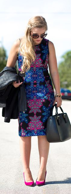 Paisley Print / Fashion By Living In Color Print