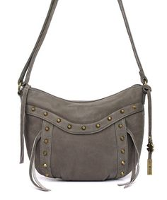 Look at this #zulilyfind! Smoke Studded Leather Crossbody Bag by Lucky Brand #zulilyfinds