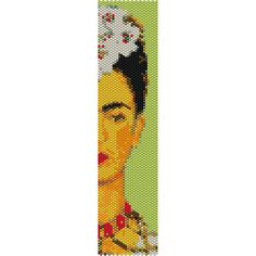 Bracelet Pattern - Peyote Stitch Pattern - Frida Kahlo Face 3 - Buy 3 Patterns, Get 1 FREE