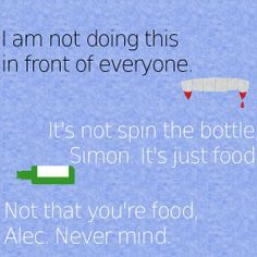 CoHF Quote: Simon, Jace, and Clary.