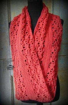 Free Crochet Pattern - Rouge Infinity Scarf @countrywillow12 ~k8~