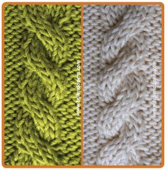 Galeria de puntos 4: Trenzas, ochos, cuerdas - Tejiendo Perú Knit Slippers Free Pattern, Knit Headband Pattern, Knitted Slippers, Knitted Headband, Knitted Hats, Cable Knitting Patterns, Knitting Basics, Knitting Stitches, Free Knitting