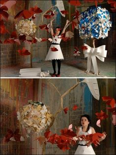 paper dress and charming paper surrounds