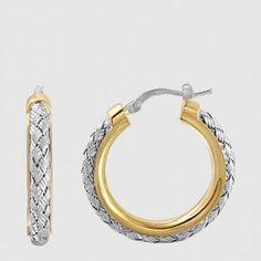 MLE8304WY25 - CZ EARRINGS, NORMA, 25MM Gold Jewelry, Jewels, Earrings, Ear Rings, Stud Earrings, Jewerly, Gold Jewellery, Ear Piercings, Ear Jewelry