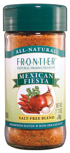 Frontier Natural Products Mexican Fiesta Blend Salt Free -- 2.1 oz