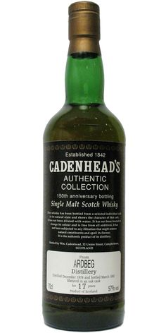 Ardbeg 1974 by Cadenheads. There's just something special about these old Cadenhead bottlings - the labels are unpretentious and straight to the point. Love 'em.