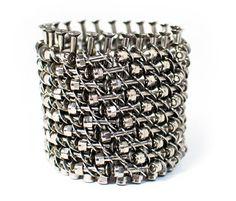 Emma Francesconi  Bracelet: Armor 2012  Titanium screws