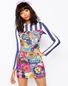 House Of Holland Printed Mini Dress