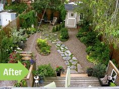 Garden Ideas Before And After weeds, front yard, makeover, cottage, house, landscape see after