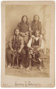Standing L-R: Unknown, unknown Sitting L-R: Alexander, unknown - Comanche - 1910