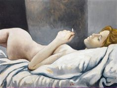 Renato Guttuso(1912ー1987 an Italian painter)「Nudo disteso」(1963)