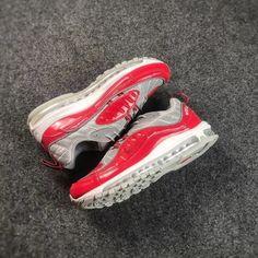 Supreme x NikeLab Air Max 98 Red Cool Grey Grey Sneakers 5f79cdbdbc5