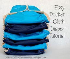 Pocket cloth diaper tutorial.