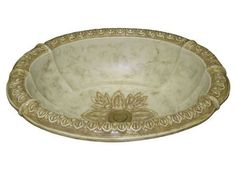 Marzi Romanesque Classic Fluted Sink - The Marzi Romanesque Classic Fluted Oval Bath Sink is a hand-painted sculpted oval bath sink with a fluted design, for drop-in installation.
