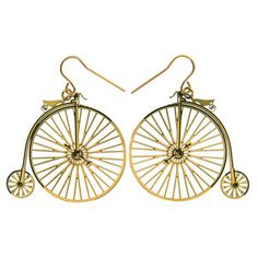 I love penny farthings because they are called penny farthings and they look absolutely impossible to ride.