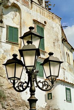 Wrought Iron Street Lights...Amalfi,Italy by Howard Somerville, via Flickr