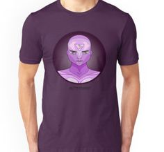 Third eye and pineal gland t-shirt for men and women. Purple comic book cartoon inspired illustration of the third eye chakra, great for yoga, meditation and spiritual work. A graphic drawing in colors on psychic development.