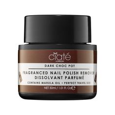 Ciaté London Choc Pot.  A nail polish remover pot infused with a chocolate scent.  #sephora #holiday #giftsephora