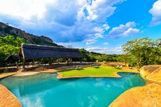 Nothing like swimming  while on African safari at Matobo Hills Lodge