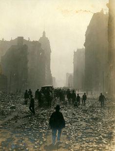 San Francisco's Market Street after the earthquake, 1906. W.J. Street. S)