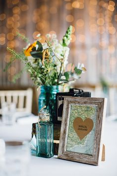 Travel themed centerpiece each table could have a different travel themed centerpiece each table could have a different destination theyve been to with mementos of their trip there and the t travel wedding junglespirit Gallery