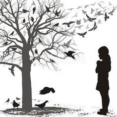 Child admires the birds