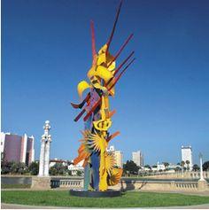 Sculpture-Volunteer Spirit- by Albert Paley on Lake Mirror Florida Travel, Travel Usa, Lakeland Florida, Usa Trip, Mirror Lake, Going On A Trip, Chamber Of Commerce, Landscape Wallpaper, Central Florida