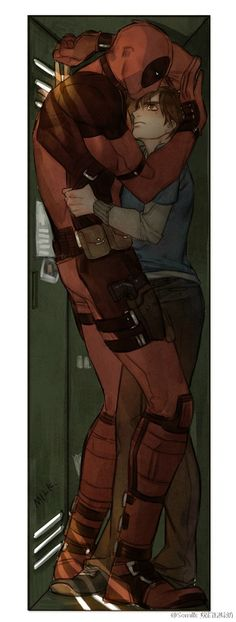 Discovered by nooni. Find images and videos about spiderman, deadpool and spideypool on We Heart It - the app to get lost in what you love. Deadpool X Spiderman, All Spiderman, Dead Pool, Marvel Dc Comics, Marvel Avengers, Image Couple, Art Manga, Fujoshi, Yuri