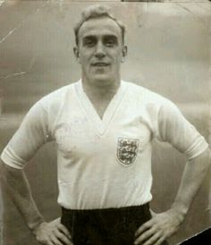 England captain Billy Wright at the 1958 World Cup Finals.