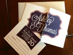 Custom fold wedding invitation and RSVP; The Design Brewery on Etsy $2.95