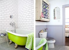 Despite the fact that the neon tub makes the bathroom look dirty, the neon tub is totally awesome!
