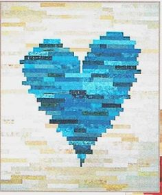 Have a Heart Jelly Roll Friendly Quilt Pattern by J Michelle Watts at Creative…