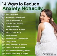 14 Ways to Reduce Anxiety Naturally - DrJockers.com                                                                                                                                                                                 More