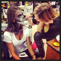 30 days of make up! Day 12! Dia de Los Muertos for Corona!
