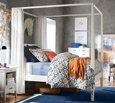Gray Marlon Queen Canopy Bed - Google Search