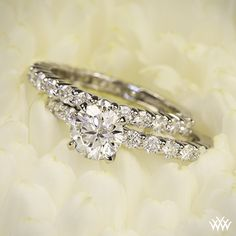 Diamonds for an Eternity 3/4 Diamond Wedding Set with a 1.013ct A CUT ABOVE ($3,500-Band & Engagement Ring) Center diamond not included