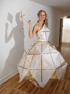 a dress made of kites? LOL