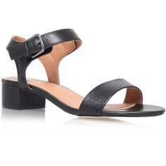 Miss KG Pamela Sandals ($59) ❤ liked on Polyvore featuring shoes, sandals, black, block heel shoes, black shoes, snake sandals, strappy sandals and black strappy shoes