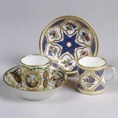 Tableware: Sèvres Cup & Saucer (<I>gobelets Litron</I>, third size) Soft-paste porcelain