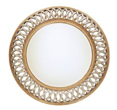 Uttermost 14028 B Entwined Round Mirror With Woven Look Frame Antique Silver Leaf Gold Leaf Home Decor Mirrors Lighting